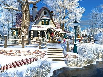 Winter Cottage 3D Screensaver