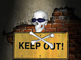 Keep Out Screen Saver