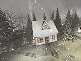 winter, snow, snowman, village, night, screensaver, screensavers, 3d screensaver, 3d, free download